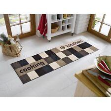 wash + dry Teppich waschbar Fußmatte Bodenmatte at kitchen brownish 60  x 180 cm