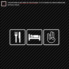 (2x) Eat Sleep Shocker Sticker Die Cut #1 jdm many colors
