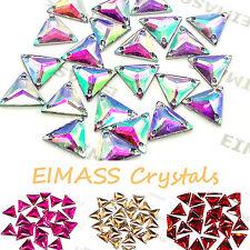 Forma de triángulo eimass ® Coser O Pegamento En Resina Cristales, piso Trasero Gemas Para Disfraz
