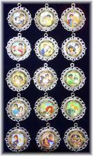 15 Disney Princess Prince Necklace Pendant Glass Necklace Charm Pendant Choose