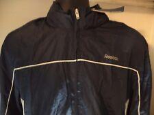 Classic Windbreaker Jackets REEBOK Size S Color  Gray, Navy Blue & White