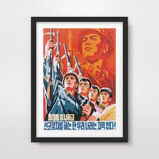 NORTH KOREAN KOREA PROPAGANDA POSTER Art Print Peoples Army Military Soldiers