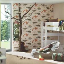 Kids Dinosaur Wallpaper in Multi on Cream Boys and Girls 93633-1