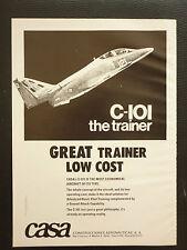 12/1980 PUB AVION AERONAUTICAS CASA C-101 PILOT TRAINING AIRCRAFT ORIGINAL AD