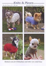 KNITTING PATTERN  DOG COATS & JACKETS CHOOSE SMALL DOG OR WHIPPET ETC FREE P & P