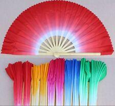 4color Tai chi double fan mulan bamboo bone dance martial arts/kung fu fan 1pair