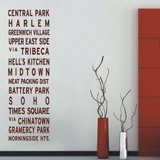CREATIVE NEW YORK LANDMARKS WALL STICKER WALL ART DECAL - .D231