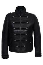 'BATTALION' Mens Leather Jacket Black 100% Lambskin Military Studded Jacket 2212