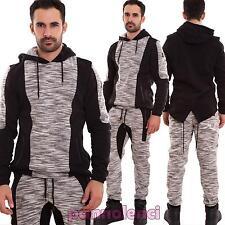 Felpa uomo maglia pull cappuccio code asimmetrica maniche lunghe nuova NY-022