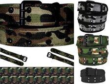 Linea uomo donna unisex militare camouflage Camo Pantaloni Corti con Tasconi Web Cintura in tela di cotone