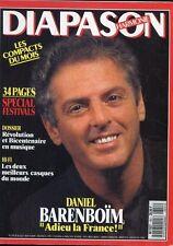 Diapason #351 -Daniel BARENBOÏM- Spécial festival, hi-fi les meilleurs casques