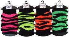 80's Neon Striped Leg Warmers Legwarmers Clubbing Fancy Dress Retro Party