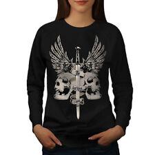 The Last King Death Skull women Sweatshirt NEW | wellcoda