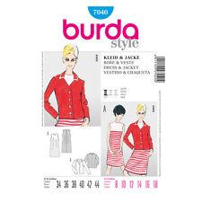 Burda 7040 Sewing Pattern Retro 1960 Vintage Misses' Fitted Dress Jacket 8-18