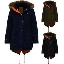 Donna FINTA PELLICCIA CON CAPPUCCIO PARKA A CODA DI PESCE Giacca Donna Trapuntato Caldo Cappotto Invernale