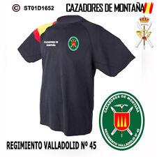 CAMISETAS TECNICAS CAZADORES DE MONTAÑA: REGIMIENTO VALLADOLID Nº45 M2