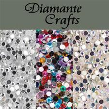 1000 X 3mm Diamante Suelto Piso Trasero Strass Nail Arte Corporal vajazzle Craft Gemas