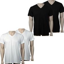 JOCKEY 2er Pack Herren V-Neck T-Shirts in weiß und schwarz von S bis 6XL