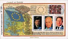 "CE45-Ib FDC Council of Europe ""Visit Mr. Yitshak RABIN, Israel"" 01-1994"