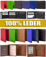 Herren Damen Geldbörse aus Leder Portemonnaie Brieftasche Portmonee Geldtasche