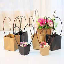 Kraft Paper Bag Flower Bouquet Basket Florist Gift Box Party Wedding Decoration