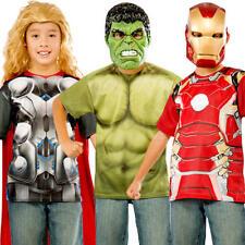 Superhero T-Shirt Kids Fancy Dress Avengers Boys Comic Book Week Childs Costume