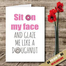 Siediti sul mio viso/San Valentino/cartolina Di Compleanno Divertente UMORISMO Help for Heroes 106