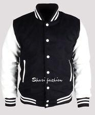 Best Quality Men Varsity Wool Letterman Jacket Real Leather Sleeves XS~3X
