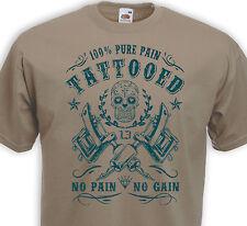 T-shirt TATTOOED  Pain Tattoo Tatouage Old school Calavera Ink Inked Dermographe