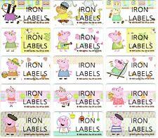Medium Peppa Pig Personalised IRON On Clothing Name Labels, 30x13mm, Waterproof