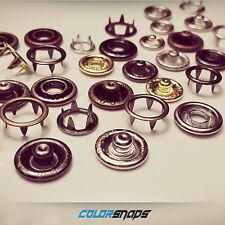 BRASS PRONG SNAPS • No Sew Button Poppas Antique Brass Gold Silver Black Bronze