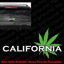 WEED CANNABIS Marijuana Window Vinyl Die Cut Decal Stickers California FY053