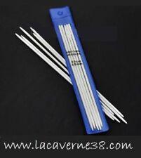 5 Aiguilles à Tricoter Double pointe  Aluminium 3/3,5/4,5/5mm 20cm tricot laine
