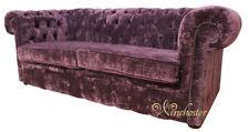 Chestefield Sofa Couch Leder Designer Textil Sitz Polster Garnitur Design 201947