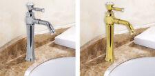 Rubinetto lavabo cristalli miscelatore canna alta lavandino bagno oro o argento