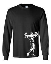 211 Muscle flexing Long Sleeve Shirt body builder universe arnold flex exercise