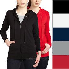 DICKIES Girl Sweatshirts Womens Junior's Slim Fit Hooded Zipper Sweaters SF513