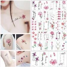 Fashion 30 Sheet Temporary Tattoo Stickers Feather Body Art Tattoos Waterproof