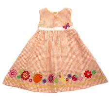 3d9bd7452ad7d BT Kids Girls Dress Butterfly Strawberry Flower Summer Sundress Orange  White 4,5