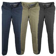 Para Hombre CHINO Pantalones Vaqueros D555 Duque Big King Size Trabajo Formal Botón Postal Casual