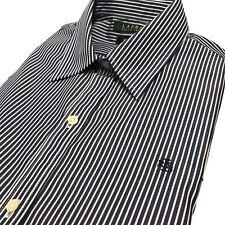 Lauren by Ralph Lauren womens Shirt RLL Lng/sleeve white blue stripe SP S PM XL