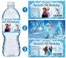 20 DISNEY FROZEN ELSA BIRTHDAY PARTY FAVORS WATER BOTTLE LABELS ~ PERSONALIZED
