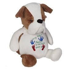 Plüschtier, Kuscheltier, Baby-Geschenk individuell bestickt, Bulldogge