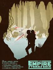 Star Wars Empire Strikes X-Wing Yoda Luke Art Huge Giant Print POSTER Affiche