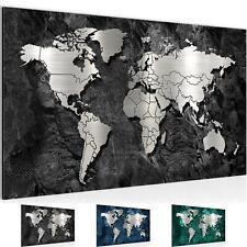 WELTKARTE KONTINENTE MAP Wandbilder xxl Bilder Vlies Leinwand k-A-0210-b-a
