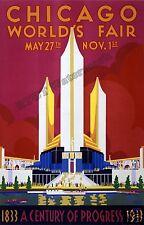 Historical Wall Art / Photograph 1933 Chicago Worlds Fair Poster  11x17