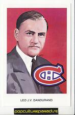 LEO J.V. DANDURAND MTL NHL Hockey HALL OF FAME POSTCARD