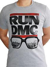 Run DMC NYC Gafas De Sol Sombras oficial Hip Hop Rap Hombre Camiseta Gris