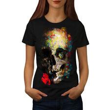 Skull Sugar Rose Kunst Frauen T-Shirt S-2XL NEU | wellcoda