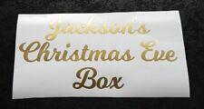 Nome Personalizzato Adesivo Vinile/etichetta per la vigilia di Natale/Natale Scatola Crate Regalo Bambini